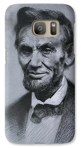 Galaxy Case featuring the drawing Abraham Lincoln by Viola El
