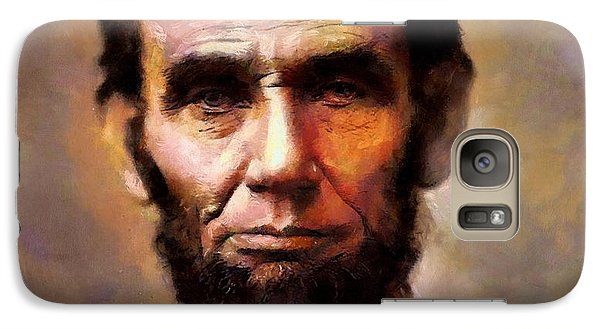 Galaxy Case featuring the painting Abraham Lincoln by Wayne Pascall