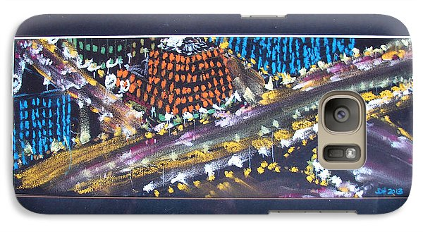 Galaxy Case featuring the drawing Absrtract Traffic by Joseph Hawkins