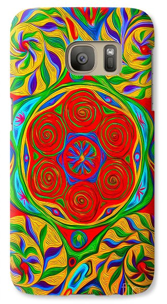 Galaxy Case featuring the painting Abstract 01 by Gregory Dyer