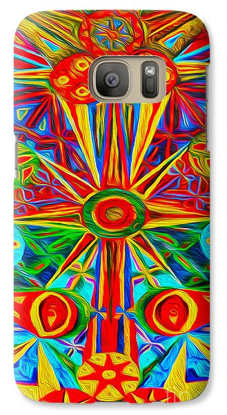 Galaxy Case featuring the digital art Abstract 02 by Gregory Dyer