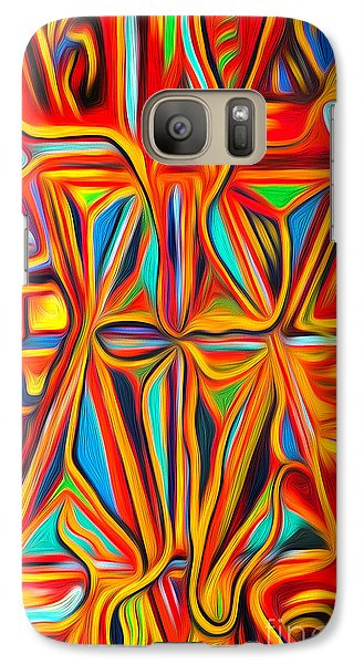 Galaxy Case featuring the digital art Abstract 03 by Gregory Dyer