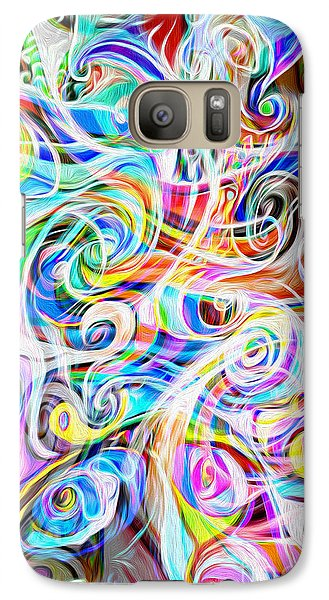 Galaxy Case featuring the digital art Abstract 05 by Gregory Dyer