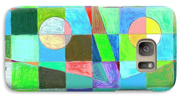 Galaxy Case featuring the drawing Abstract 3 by Mary Bedy