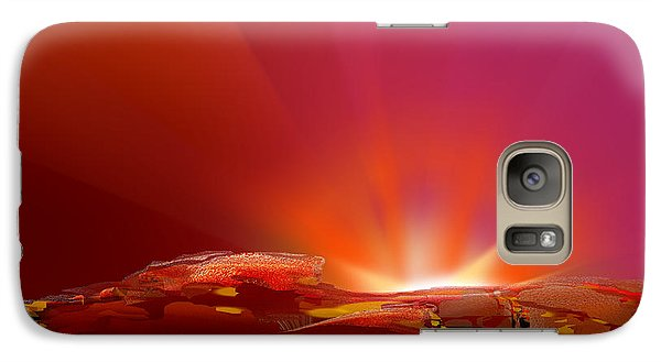 Galaxy Case featuring the digital art Abstract - Alien Sunrise by rd Erickson