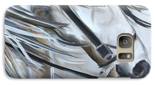Galaxy Case featuring the painting Abstract Andie by Debbie Hart