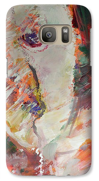 Galaxy Case featuring the painting Abstract Autumn Leaves by John Fish