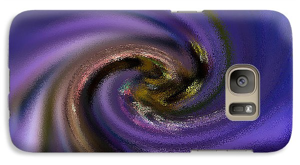 Galaxy Case featuring the photograph Abstract Bee On Chicory by Haren Images- Kriss Haren
