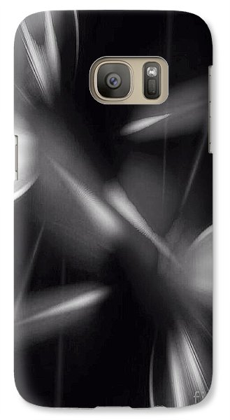 Galaxy Case featuring the digital art Abstract Black And White by Gayle Price Thomas