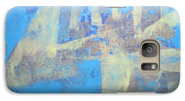 Galaxy Case featuring the painting Abstract Blue Landscape by John Fish