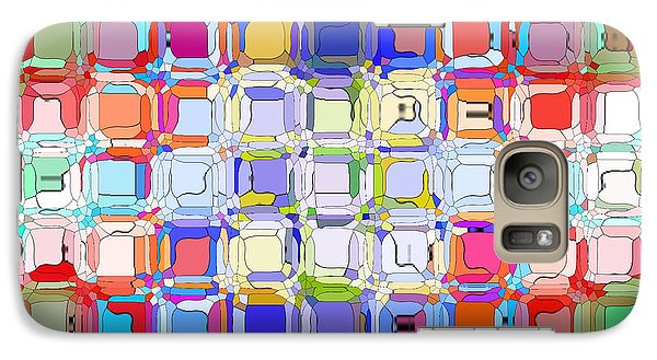 Galaxy Case featuring the digital art Abstract Color Blocks by Anita Lewis