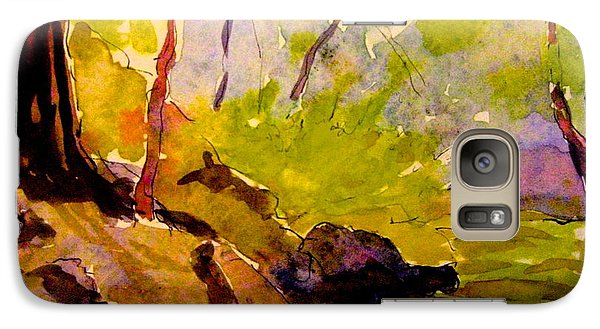 Galaxy Case featuring the painting Abstract Creek In Woods by Gretchen Allen