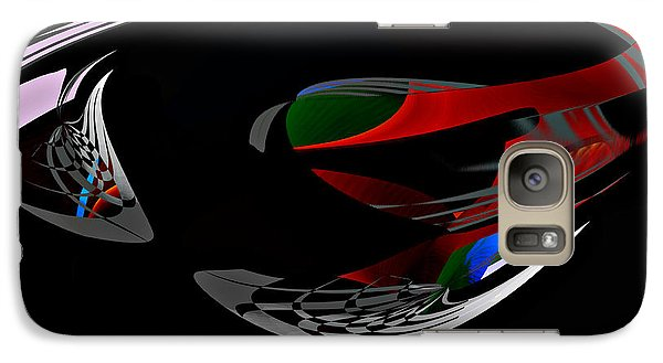 Galaxy Case featuring the digital art Abstract - Dark No 1 by rd Erickson