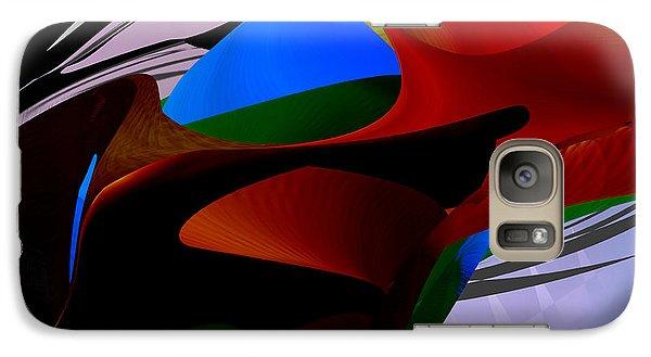Galaxy Case featuring the digital art Abstract - Dark No 2 by rd Erickson