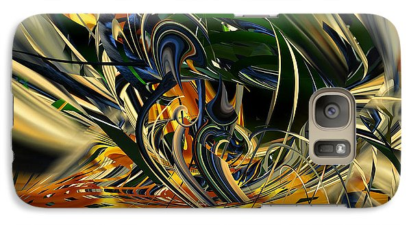 Galaxy Case featuring the digital art Descent Into Hell - Abstract by rd Erickson