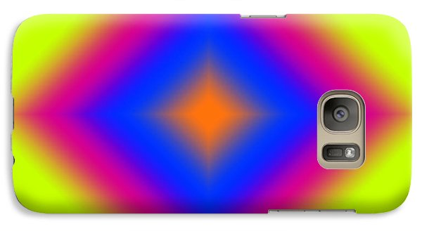 Galaxy Case featuring the digital art Abstract Diamond On Lime by Karen Nicholson