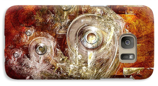 Galaxy Case featuring the digital art Abstract Discs by Alexa Szlavics