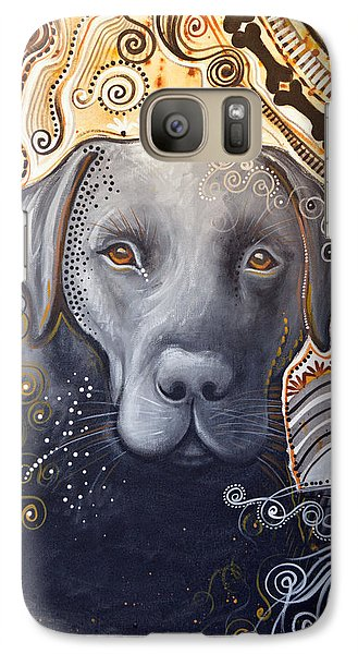Galaxy Case featuring the painting Abstract Dog Art Print ... Rudy by Amy Giacomelli
