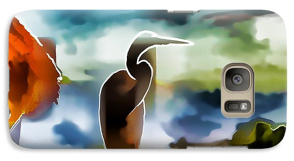 Galaxy Case featuring the photograph Abstract Egret Profile by Pamela Blizzard