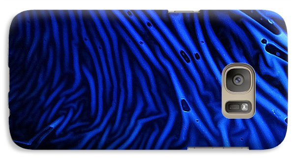 Galaxy Case featuring the photograph Abstract Experimental Chemiluminescent Photography Blue 1 by David Mckinney