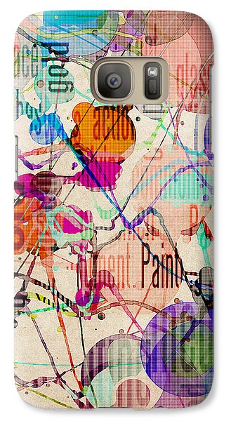Galaxy Case featuring the digital art Abstract Expressionism by Phil Perkins
