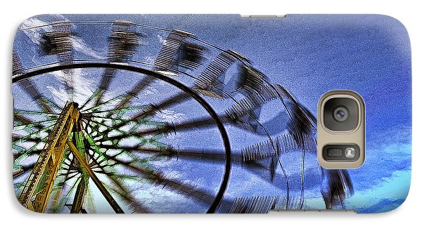 Galaxy Case featuring the photograph Abstract Ferris Wheel by Linda Blair