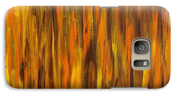 Galaxy Case featuring the painting Abstract Fireside by Susan  Dimitrakopoulos