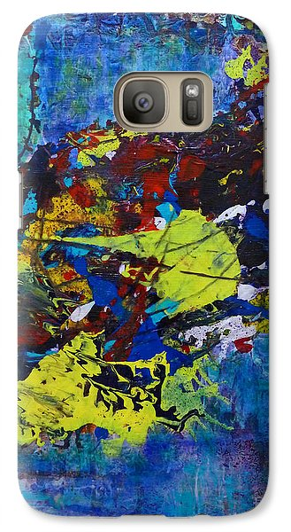 Galaxy S7 Case featuring the painting Abstract Fish  by Claire Bull
