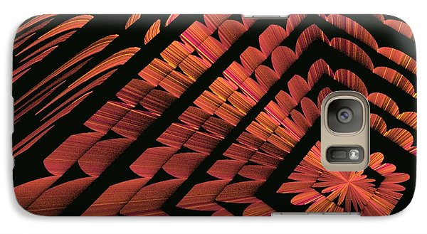 Galaxy Case featuring the digital art Abstract Floral by Linda Whiteside