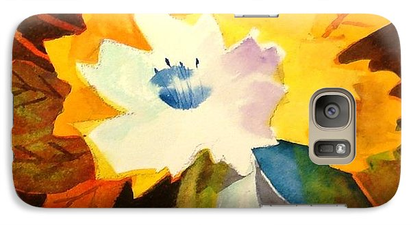 Galaxy Case featuring the painting Abstract Flowers 2 by Marilyn Jacobson
