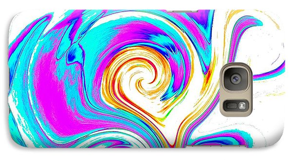 Galaxy Case featuring the digital art Abstract Heart Art by Annie Zeno