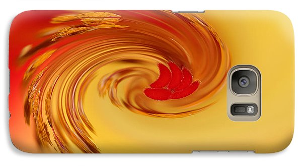 Galaxy Case featuring the photograph Abstract Swirl Hibiscus Flower by Debbie Oppermann