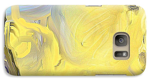 Galaxy Case featuring the painting Abstract Horse by Jessica Wright