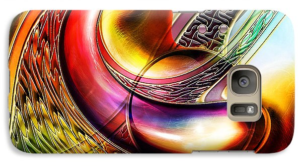Galaxy Case featuring the mixed media Abstract II by Tyler Robbins