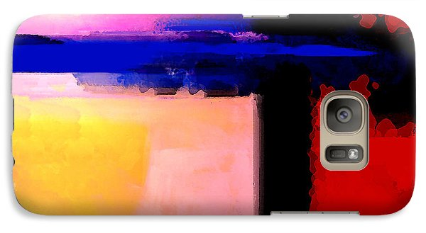 Galaxy Case featuring the painting Abstract Impressions Of A Blue Horizon by Karon Melillo DeVega