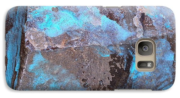 Galaxy Case featuring the photograph Abstract In Blue by M Diane Bonaparte