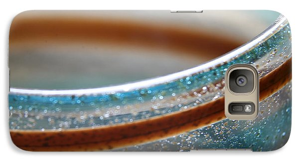 Galaxy Case featuring the photograph Abstract In Glass  by Lynn England