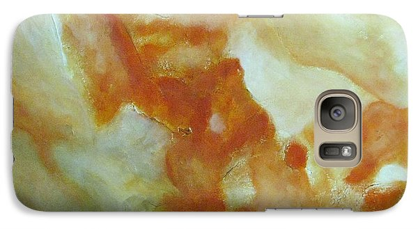 Galaxy Case featuring the painting Abstract In Orange by Riana Van Staden