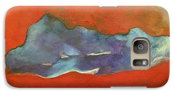 Galaxy Case featuring the painting Abstract In Red by Riana Van Staden