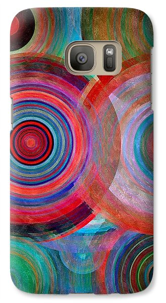Galaxy Case featuring the mixed media Abstract In Silk  by Gabriella Weninger - David