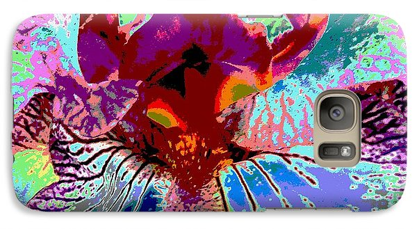Galaxy Case featuring the photograph Abstract Iris by Sally Simon