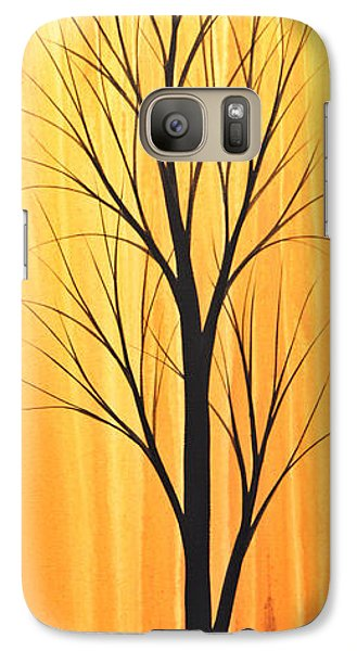 Galaxy Case featuring the painting Abstract Landscape Original Trees Art Print Painting ... Twilight Trees #2 by Amy Giacomelli