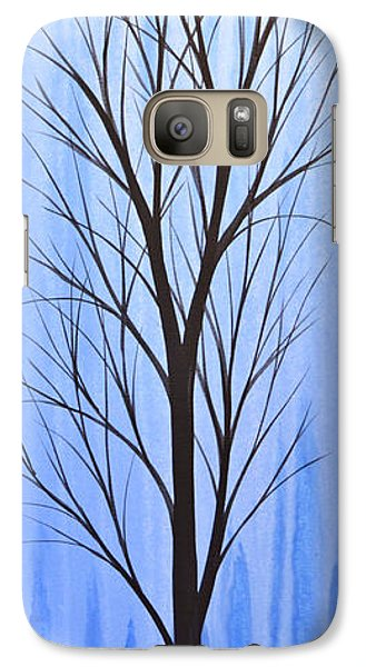 Galaxy Case featuring the painting Abstract Landscape Original Trees Art Print Painting ... Twilight Trees #4 by Amy Giacomelli