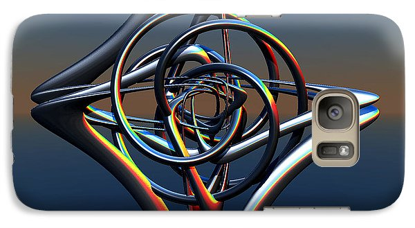 Galaxy Case featuring the digital art Abstract Metal by Melissa Messick