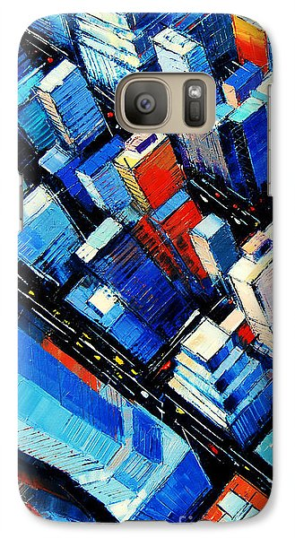 Abstract New York Sky View Galaxy S7 Case by Mona Edulesco
