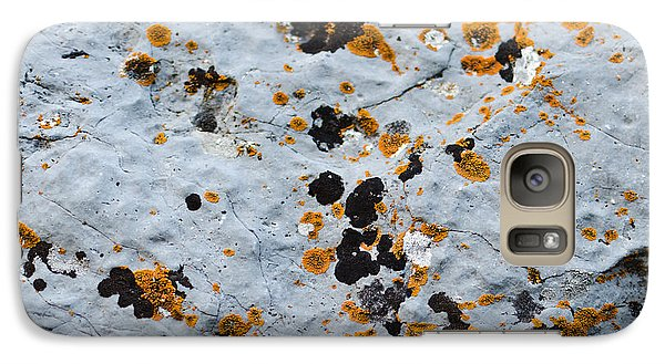Abstract Orange Lichen 1 Galaxy S7 Case