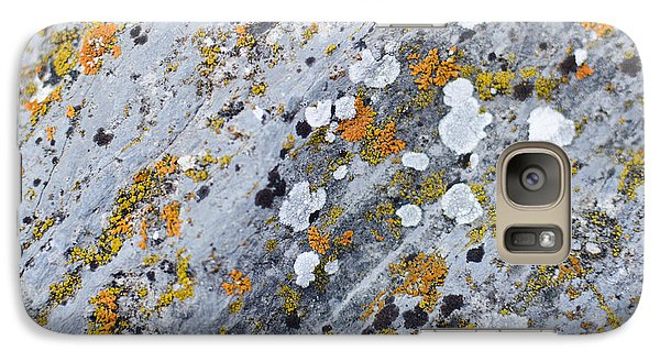 Abstract Orange Lichen 2 Galaxy S7 Case