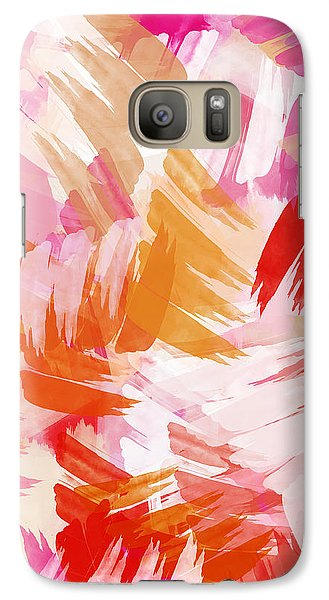 Abstract Paint Pattern Galaxy Case by Christina Rollo