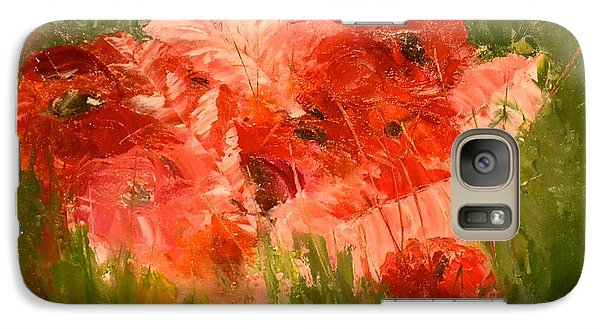 Abstract Poppies Galaxy S7 Case