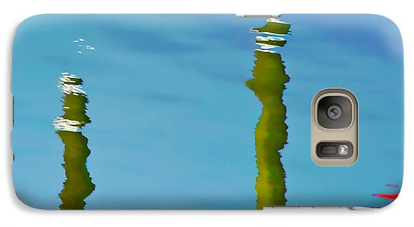 Galaxy Case featuring the photograph Abstract Reflection In River by Gary Slawsky